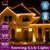 800 LED Curtain Fairy String Lights Outdoor Xmas Party Lights Warm White