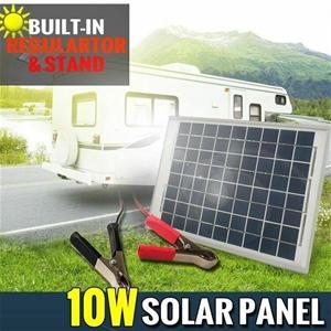 12V 10W Solar Panel Kit MONO Caravan Reg