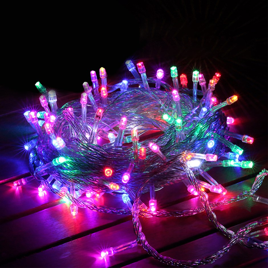 800 LED Curtain Fairy String Lights Outdoor Xmas Party Lights Multicolor