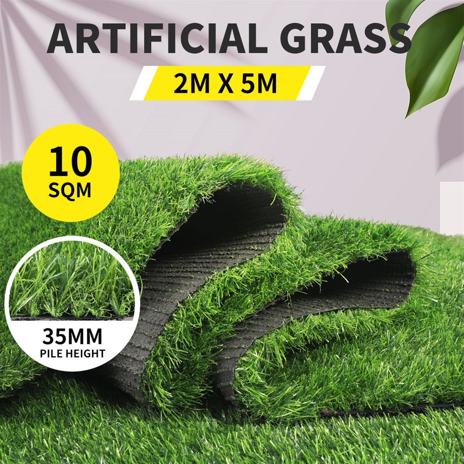10SQM Artificial Grass Lawn Outdoor Synthetic Turf Plant Lawn 35MM