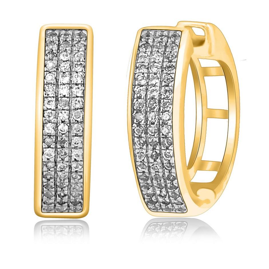 9ct Yellow Gold, 0.14ct Diamond Earring