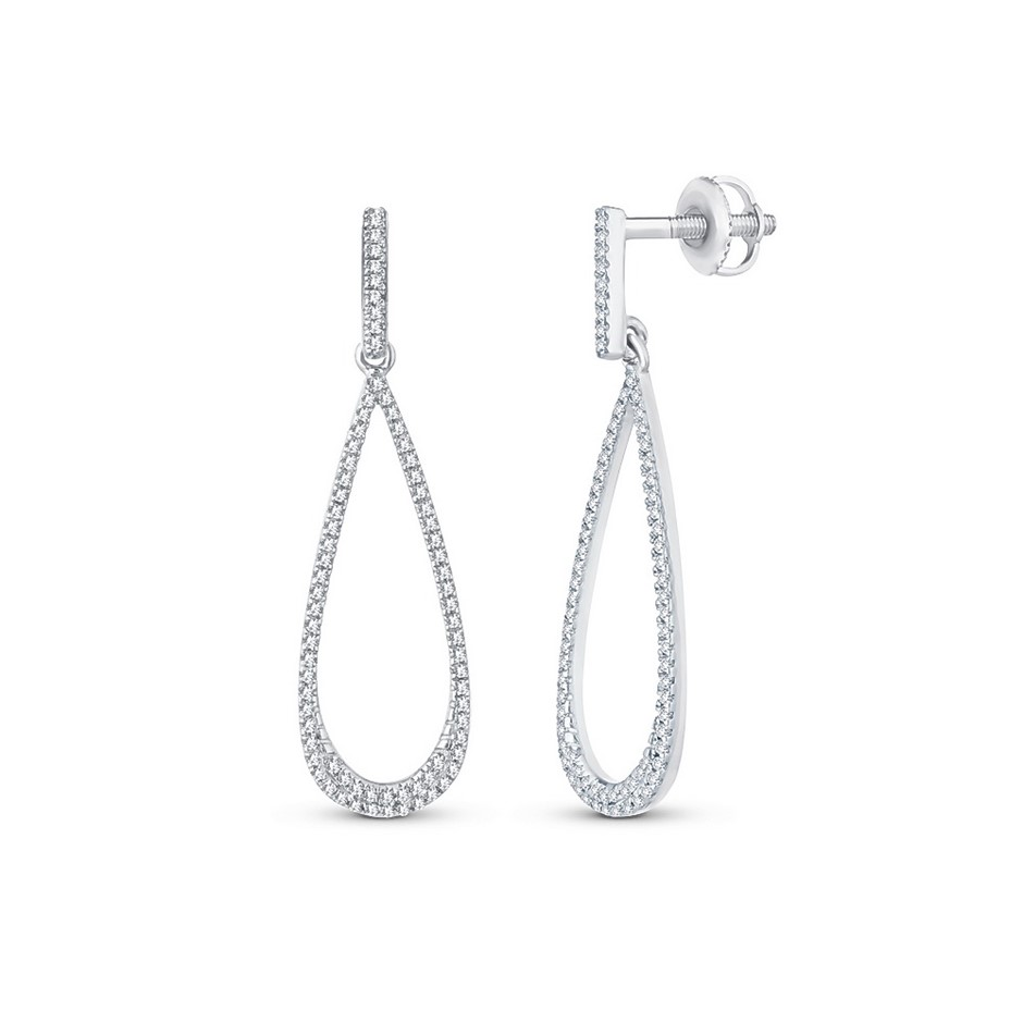 9ct White Gold, 0.21ct Diamond Earring