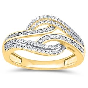 9ct Yellow Gold, 0.26ct Diamond Ring