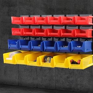 24 Bin Wall Mounted Rack Storage Tools S