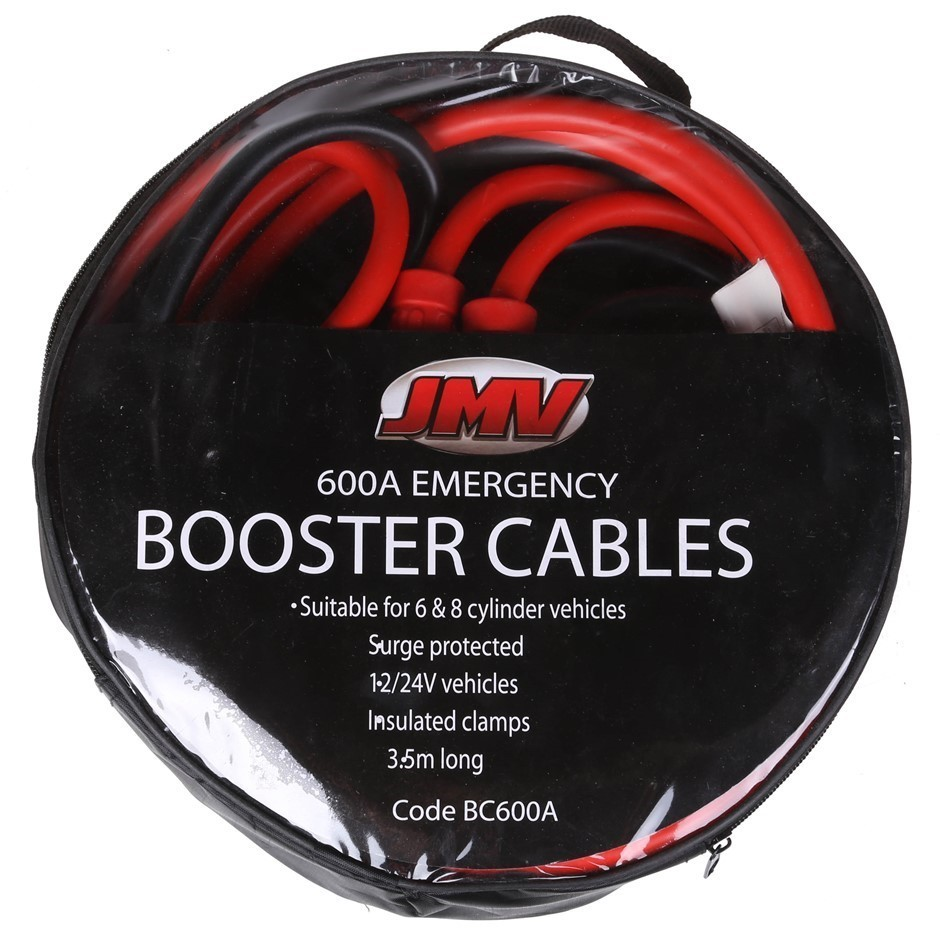 JMV 600amp Heavy Duty Battery Booster Cable 3.5M c/w Fully Insulated Alliga