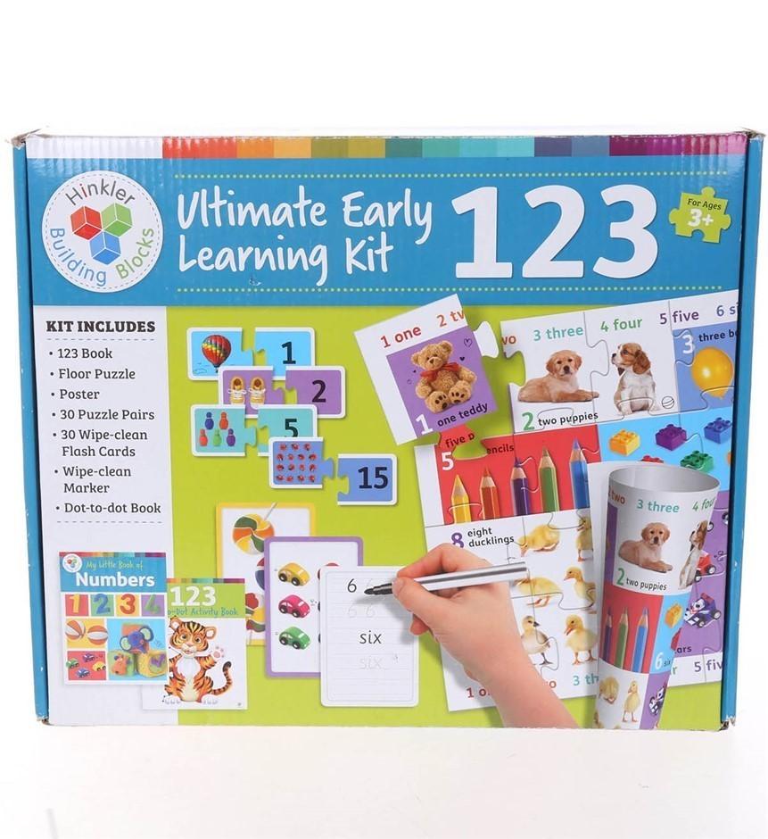 HINKLER BUILDING BLOCKS Ultimate Early Learning Kit 123. (SN:CC59325) (2737