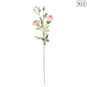 SOGA 12pcs Artificial Silk Flower Fake R