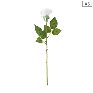 SOGA 5pcs Artificial Silk Flower Fake Ro