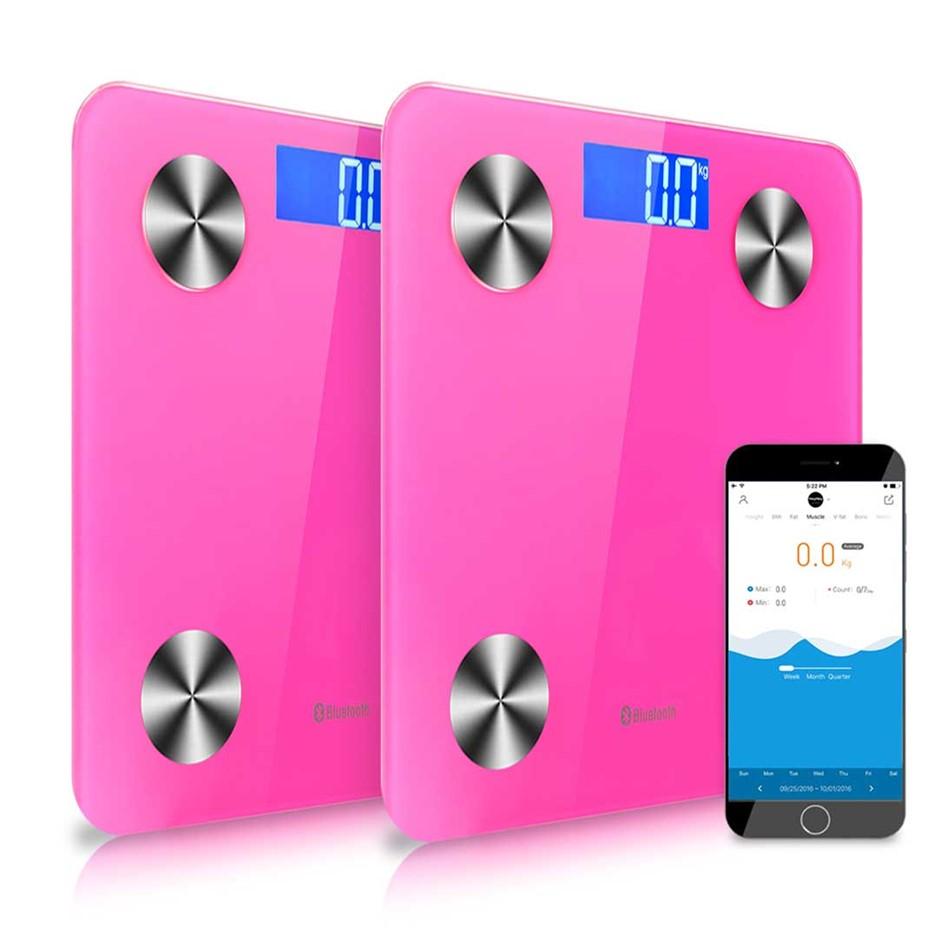 SOGA 2x Wireless tooth Digital Body Fat Scale Bathroom Analyser Weight