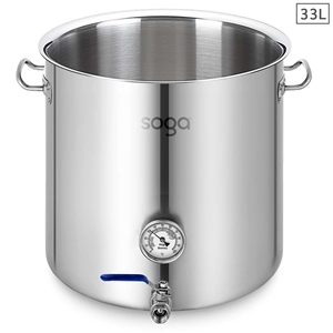 SOGA Stainless Steel 33L No Lid Brewery