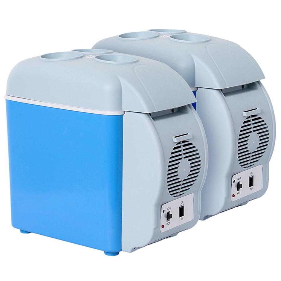 SOGA 2X 7.5L Car Small Refrigerator Cooler Box 12V Mini Fridge Cooler