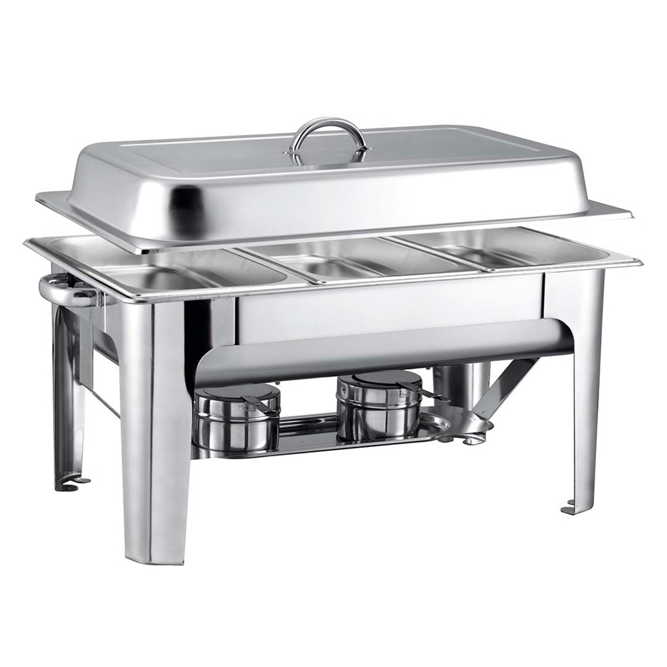 SOGA 9L SS 3 Pans Bain-marie Chafing Catering Dish Buffet Food Warmer