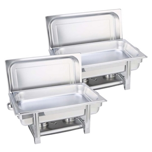 SOGA 2X Single Tray Stainless Steel Chaf
