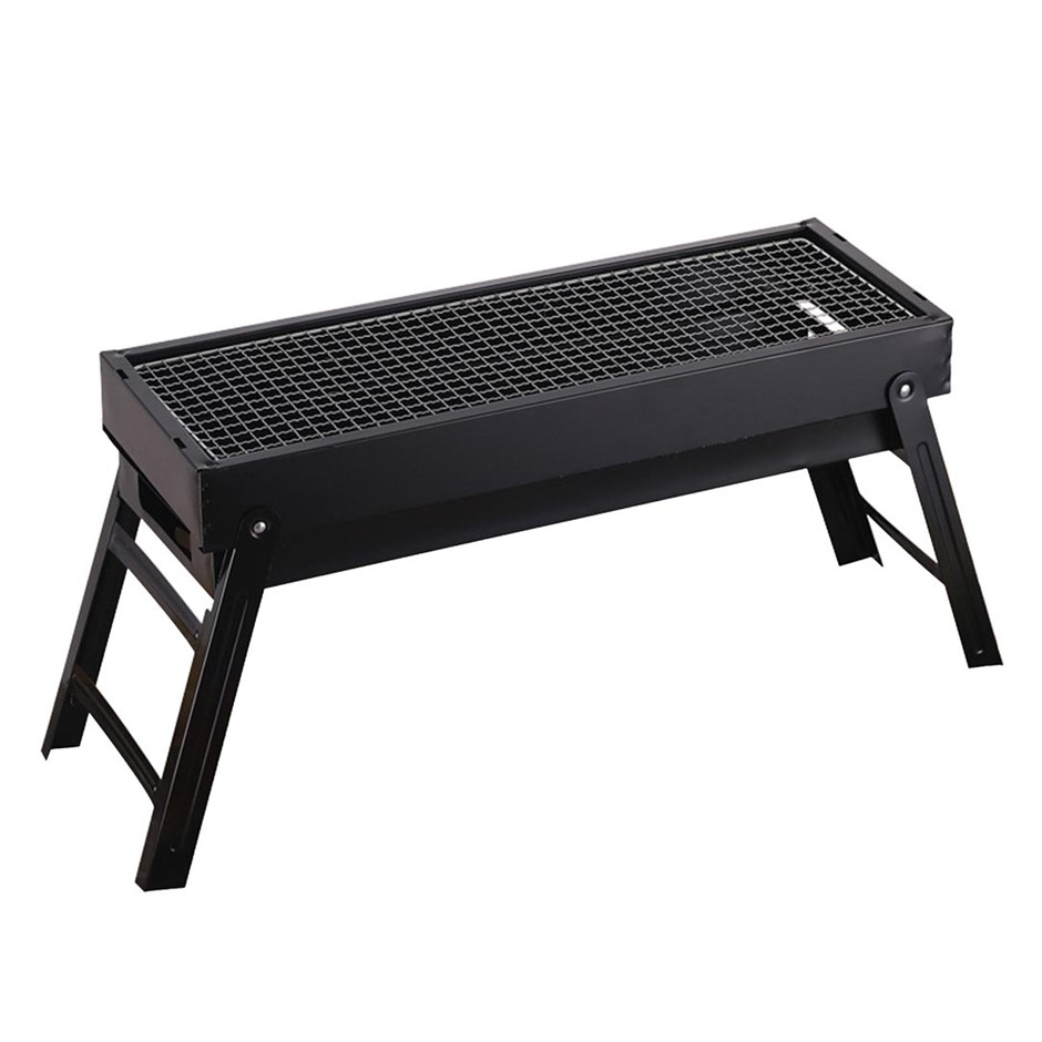 SOGA 60cm Portable Folding Thick Box-type Charcoal Grill for Outdoor BBQ