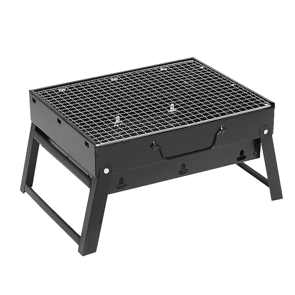 SOGA 43cm Portable Folding Thick Box-type Charcoal Grill for Outdoor BBQ