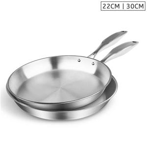 SOGA SS Fry Pan 22cm 30cm Frying Pan Top