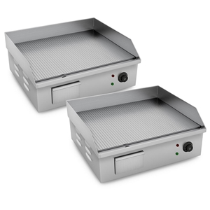 SOGA 2X Electric SS Ribbed Griddle Comme