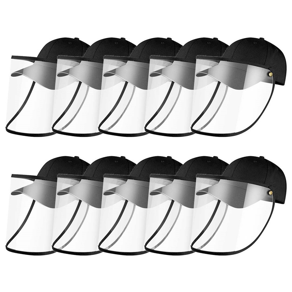 10X Outdoor Protection Hat Anti-Fog Pollution Full Face HD Shield Cover