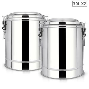 SOGA 2X 30L SS Insulated Stock Pot Dispe