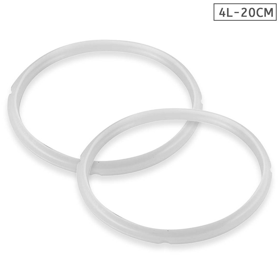 Silicone 2X 4L Pressure Cooker Rubber Seal Ring Replacement Spare Parts