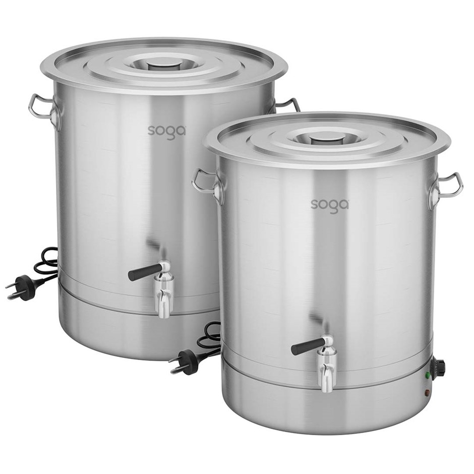 SOGA 2X 21L Stainless Steel URN Commercial Water Boiler 2200W