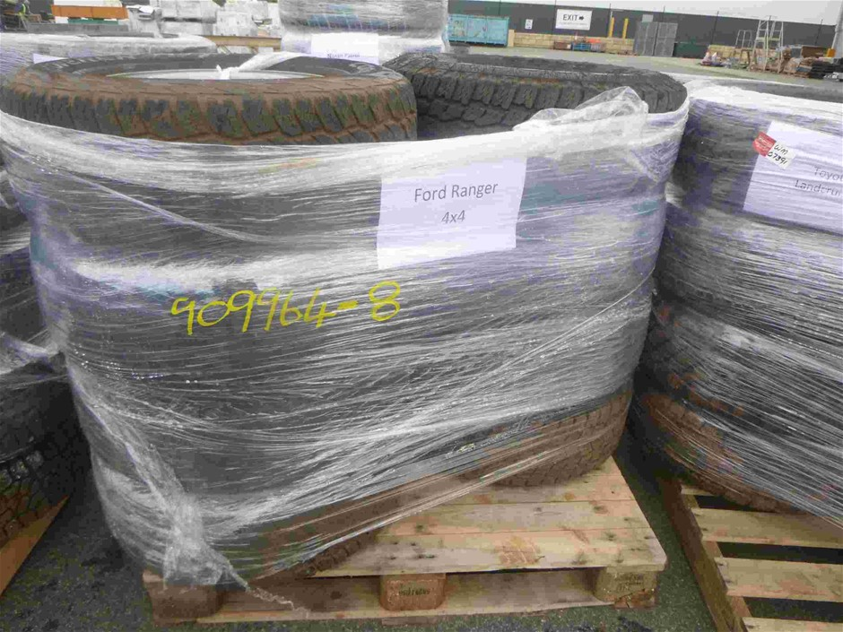 Pallet of 8x Rims & Tyres to Suit Ford Ranger