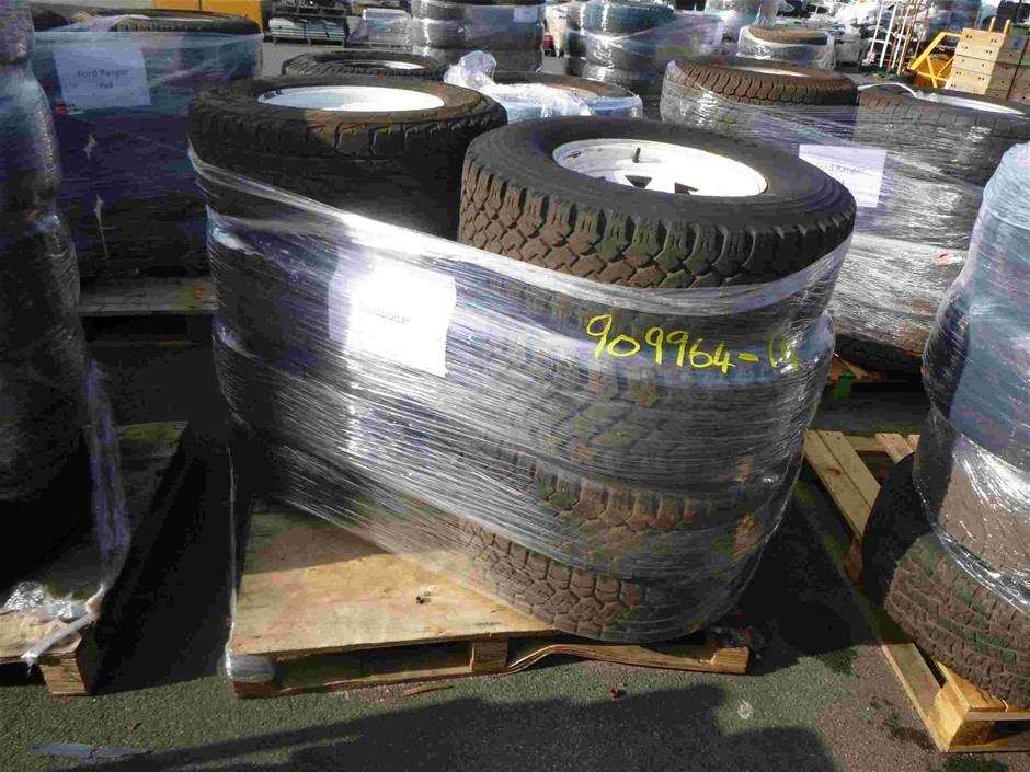 Pallet of 8x Rims & Tyres to Suit Toyota Landcruiser