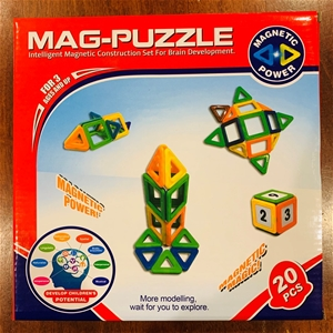 Mag Puzzle - 20 Magnetic Pieces in Diffe