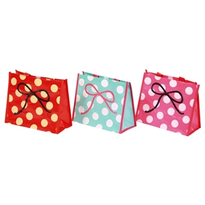 24 x Gift Bags 20x24cm Coated fabric wit