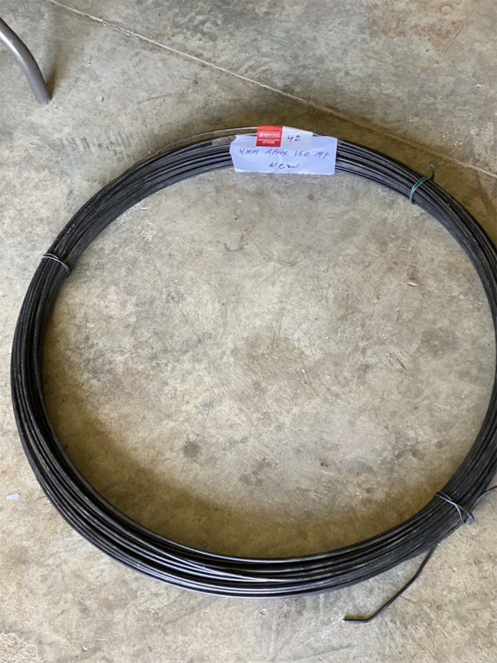 Fencing Wire - Unused 4mm Approx over 150mt (273629-42)