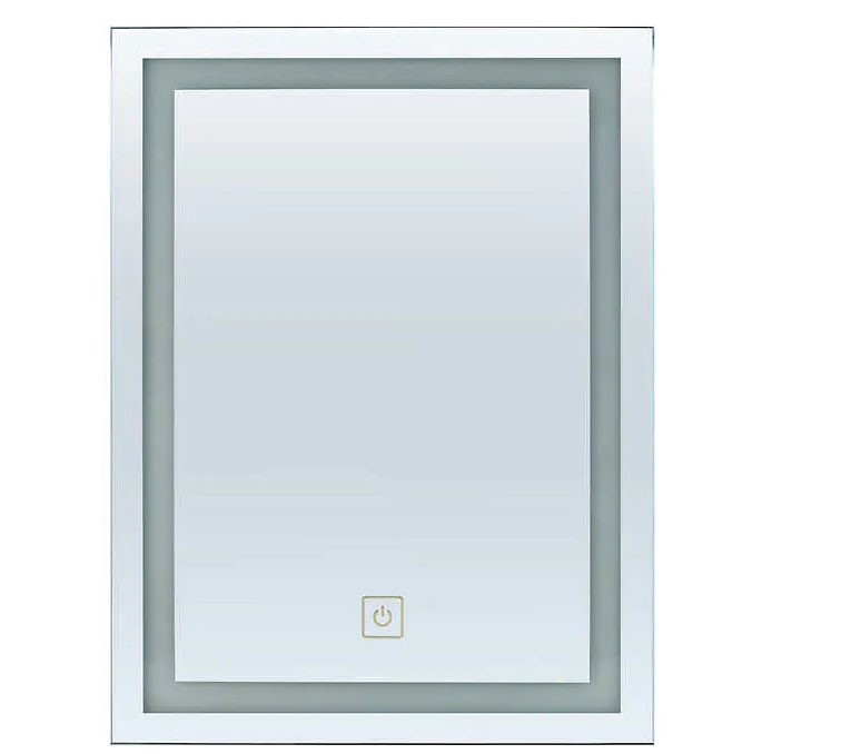 FEIT LED Lighted Mirror 600 x 800mm, Battery Operated. Buyers Note - Discou