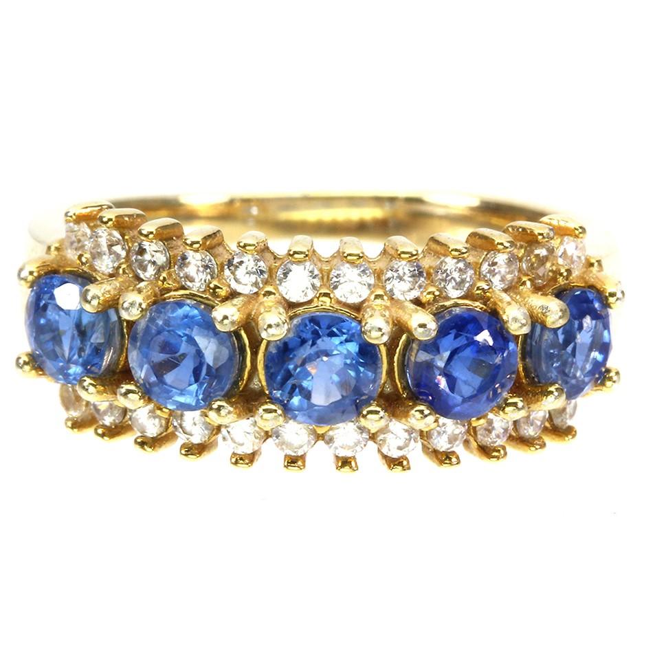 Beautiful Genuine Kyanite Half Eternity band Ring