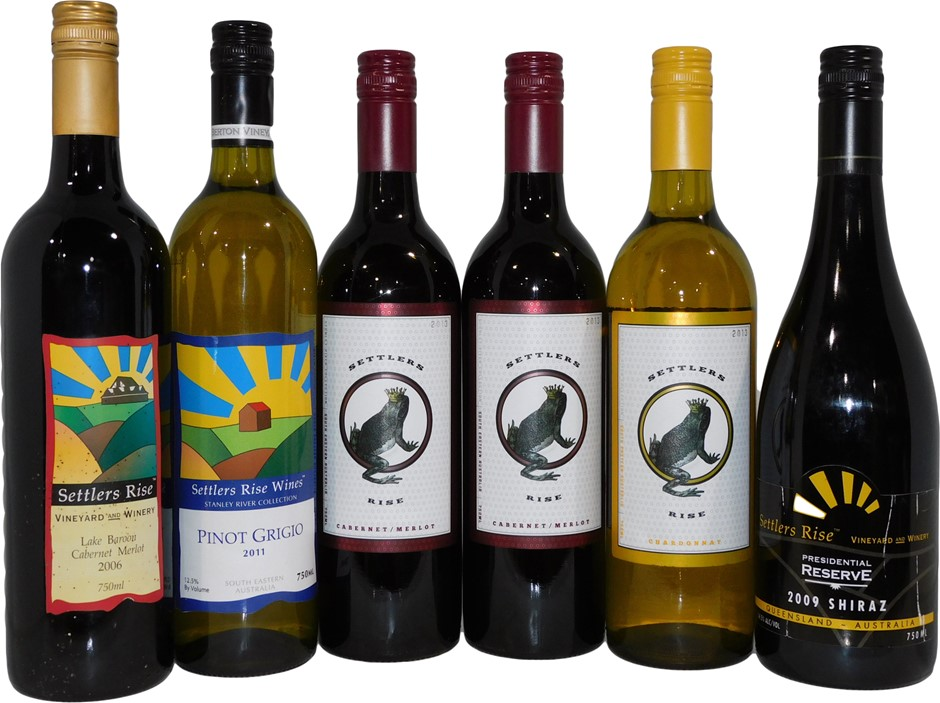 Pack of Assorted Settlers Rise Wine (6x 750mL)
