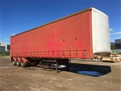 Unreserved 1998 45' Tri Axle Curtainsider Trailer