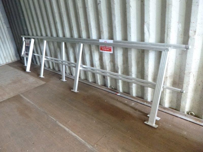 Approx. 8 Metres of Aluminium Balustrading plus Swing Back Door