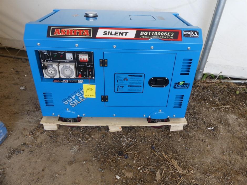 Unused Ashita DG11000SE3 Generator