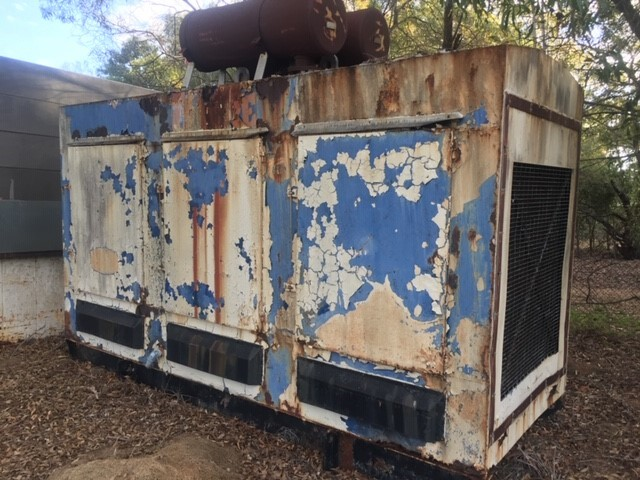 Scrap Diesel Generator in Cabinet