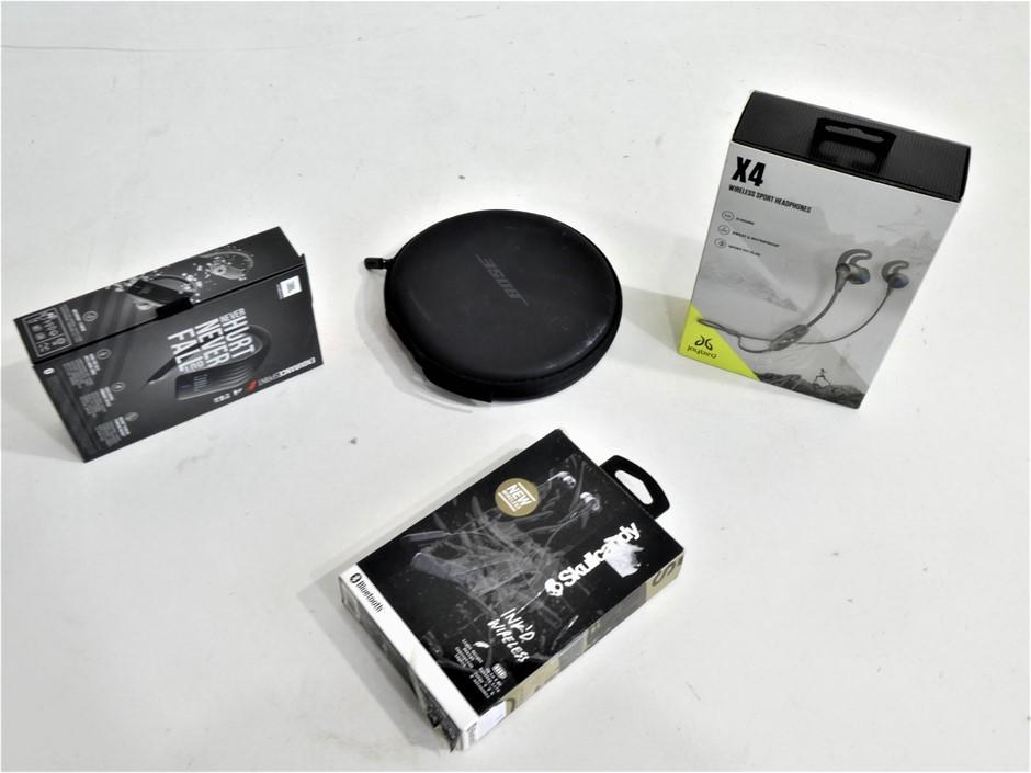 4x ASSORTED USED & UNTESTED WIRELESS HEADPHONES