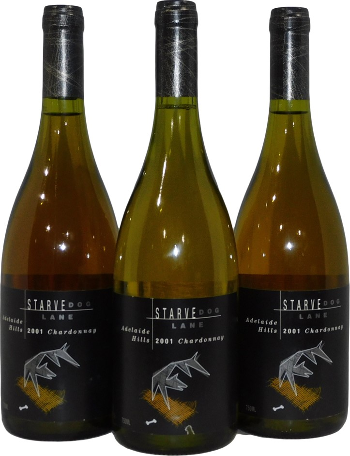 Starve Dog Lane Chardonnay 2001 (3x 750mL), Adelaide Hills. Cork