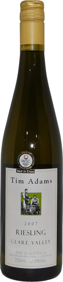 Tim Adams Clare Valley Riesling 2007 (6x 750mL), SA. Cork