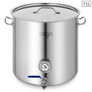 SOGA Stainless Steel Brewery Pot 71L Wit