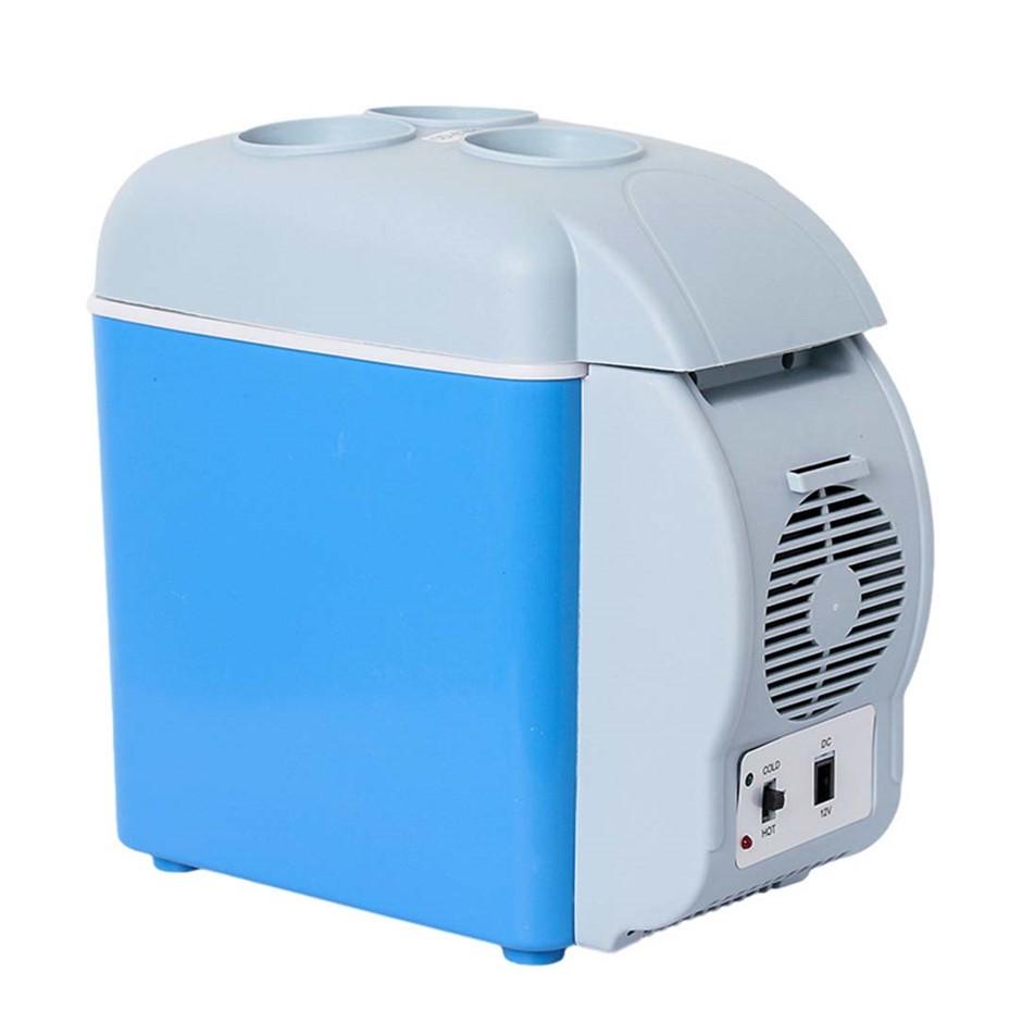 7.5L Car Small Refrigerator Cooler Box 12V Mini Fridge Blue Color