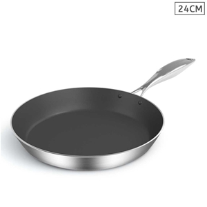 SOGA S/S Fry Pan 24cm Frying Pan Inducti