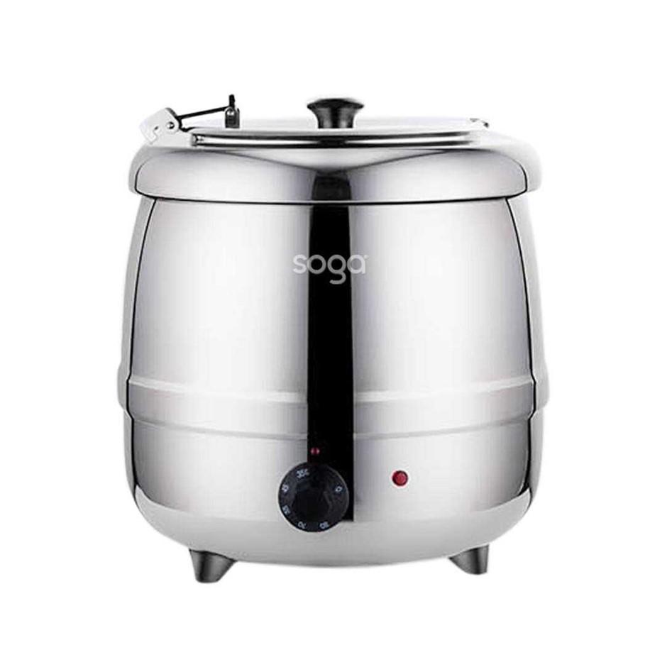 10L Soup Kettle Commercial Soup Pot Electric Soup Maker Stainless Steel