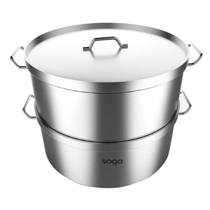 SOGA Commercial 304 S/S Steamer With 2 T