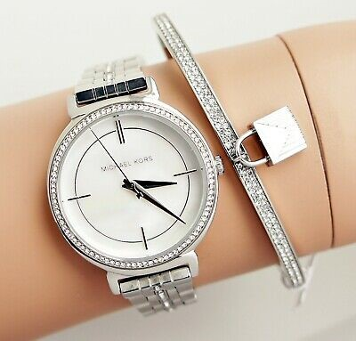 Michael Kors ladies sophisticated yet glamorous diamante MOP watch