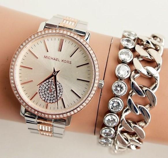Ladies new Michael Kors couture NY 'Jaryn' super feminine gemstone watch.