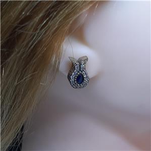 Beautiful Sapphire Stud Earrings