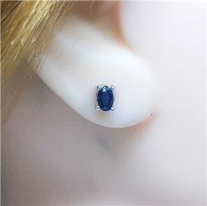 Cute Genuine Sapphire Stud Earrings