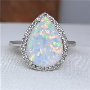 Striking Australian Opal Ring.